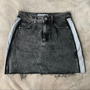 2/$20✨Zara Vintage Grey Denim Cutoff Mini Skirt
